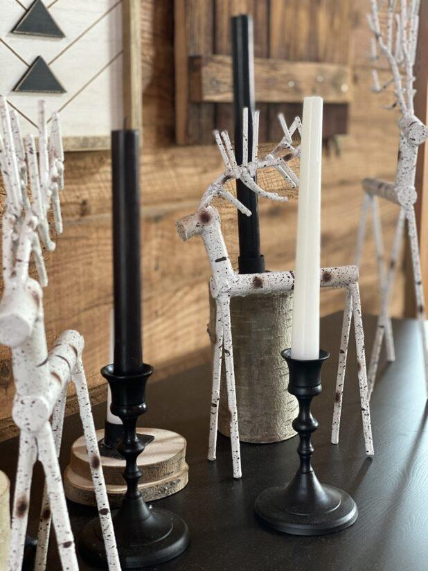 Winter Decor, Log Home, Natural Decor