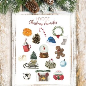 Cozy Christmas Favorite Things Printable