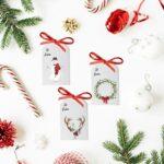 Printable Rustic Watercolor Christmas Gift Tags