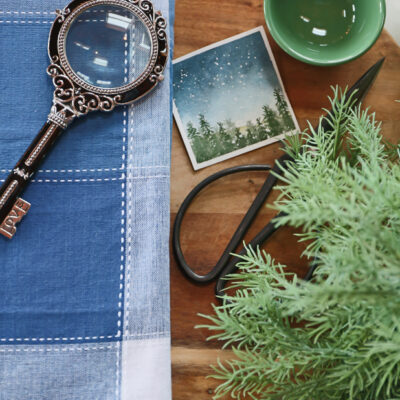 Adding Pops of Blue and Green, Late Winter Decor