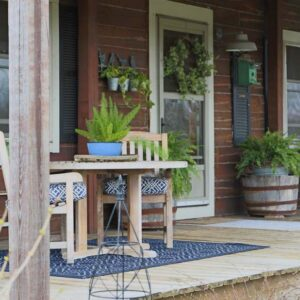 Porch Makeover With New Area Rugs and Pillows