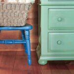 Update A Pine Armoire With Paint To Use As Blanket Storage
