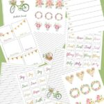 Gratitude Journal With Stickers - Printable