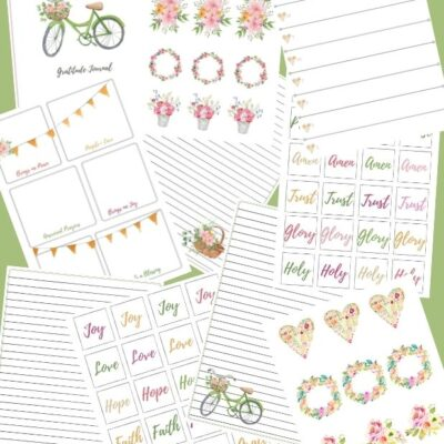 Gratitude Journal With Stickers – Printable