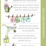 Watercolor Garden Themed Bookmarks - Download and Print