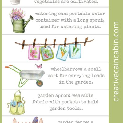 Watercolor Garden Themed Bookmarks – Download and Print