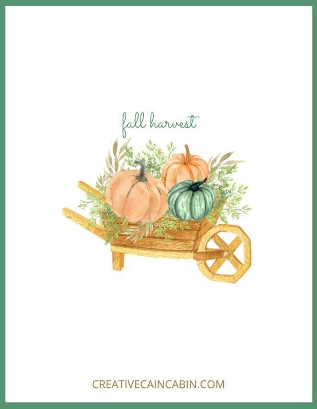 Fall Harvest Watercolor Printable
