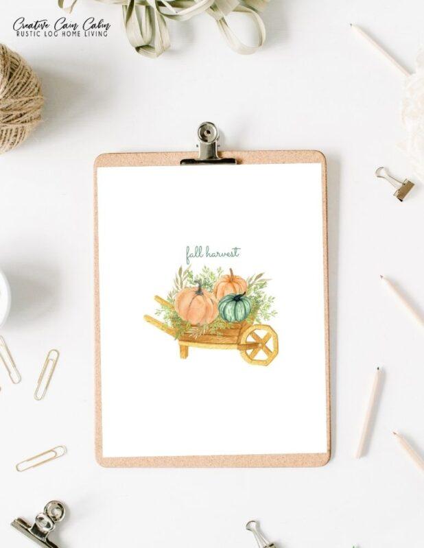 Fall Harvest Printable